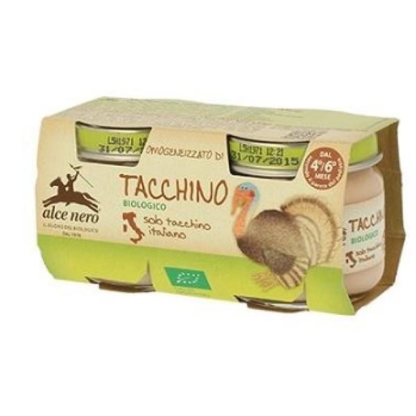Alce Nero Omogeneizzato Tacchino Bio 2 x 80 grammi