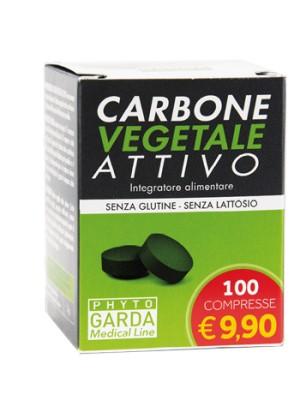 Phyto Garda Carbone Vegetale Attivo 100 Compresse - Integratore Alimentare