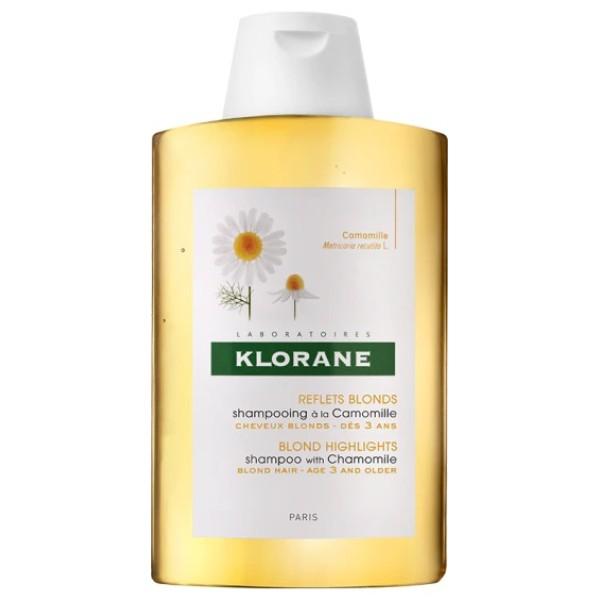 Klorane Camomilla Shampoo Trattante e Riflessante Capelli Biondi 400 ml