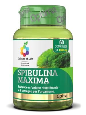 Optima Colour of Life Spirulina Maxima 60 Compresse - Integratore Ricostituente