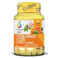 Optima Colour of Life Vitamina C Plus con Rosa Canina 60 Capsule - Integratore Difese Immunitarie