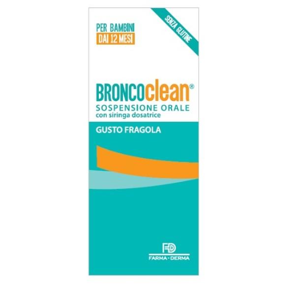 Broncoclean Sospensione Orale Gusto Fragola 100 ml - Integratore Benessere Vie Respiratorie