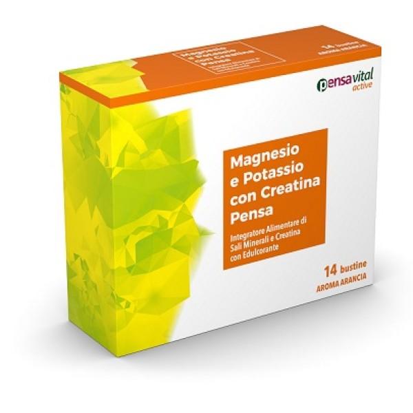 Magnesio e Potassio Pensa 14 Bustine - Integratore Sali Minerali con Creatina