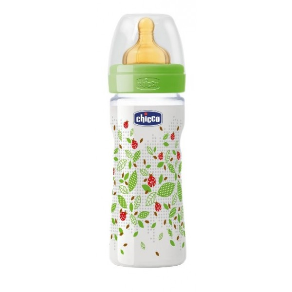 Chicco Biberon Well Being Poliprorene Unisex Caucciù 250 ml +2m