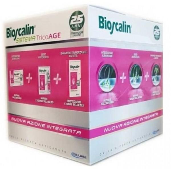 Bioscalin Tricoage Sistema Capelli Donna Compresse + Fiale + Shampoo