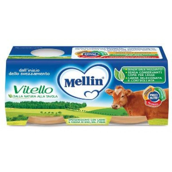 Mellin Omogeneizzato Vitello 2 x 80 grammi