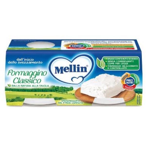 Mellin Omogeneizzato al Formaggino 2 x 80 grammi