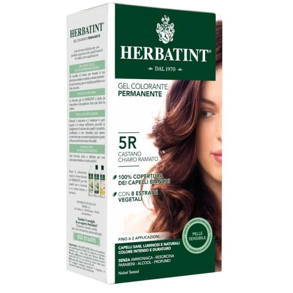 Herbatint Tintura per Capelli Gel Permanente 5R Castano Chiaro Ramato 150 ml