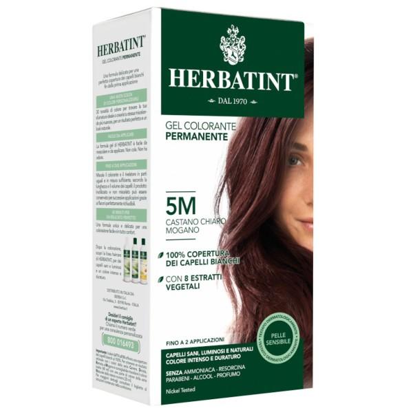 Herbatint Tintura per Capelli Gel Permanente 5M Castano Chiaro Mogano 150 ml