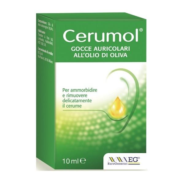 Cerumol Gocce Auricolari all'Olio di Oliva Flaconcino 10 ml