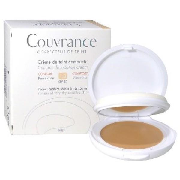Avene Couvrance Crema Compatta Colorata 01 Porcellana 10gr