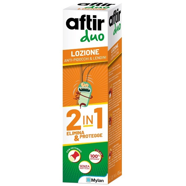 Aftir Duo Lozione Antipidocchi Doppia Azione 100 ml