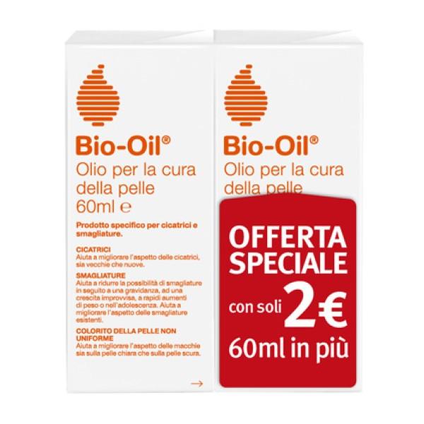 Bio-Oil Olio Dermatologico Smagliature e Cicatrici 2 x 60 ml