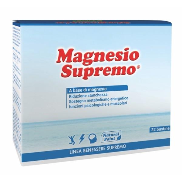 Natural Point Magnesio Supremo Integratore Alimentare 32 Buste