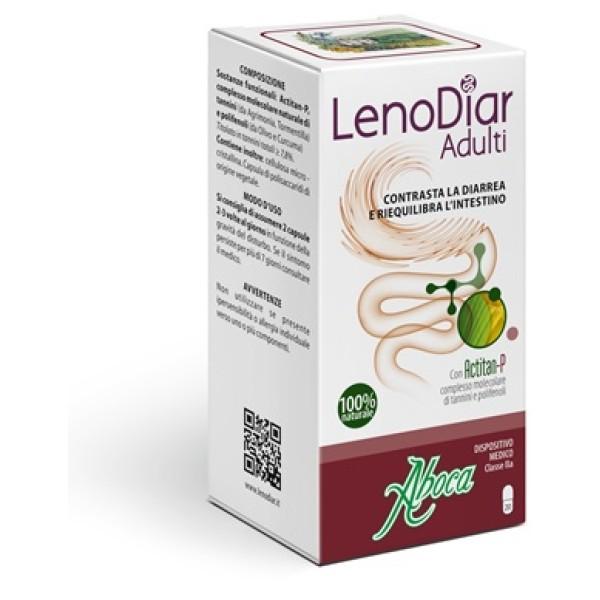 Aboca LenoDiar Adulti 20 Capsule - Integratore contro Diarrea