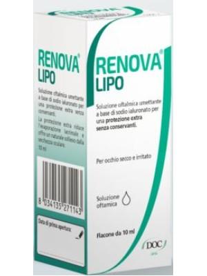Renova Lipo Soluzione Oftalmica Umettante Acido Ialuronico 0,4% 10 ml