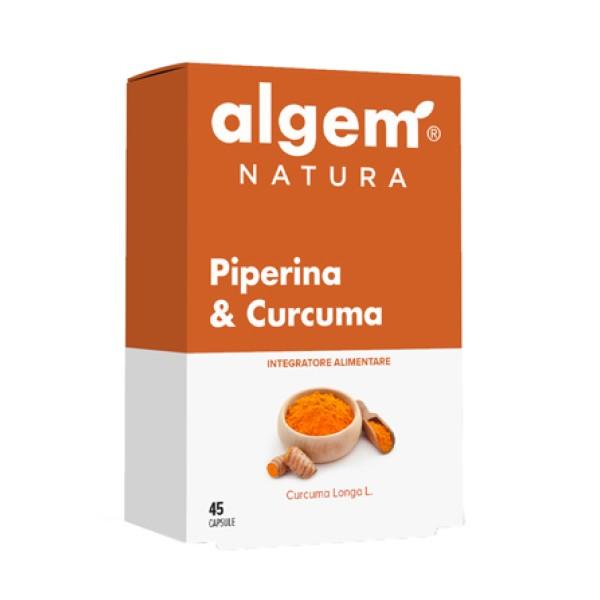 Algem Piperina & Curcuma 45 Capsule - Integratore Antiossidante