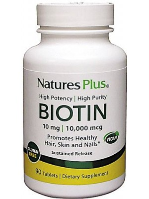Nature's Plus Biotin 90 Tavolette - Integratore Pelle e Capelli
