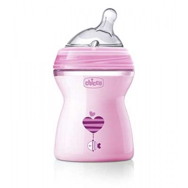 Chicco Biberon Natural Feeling +2m Girl 250 ml