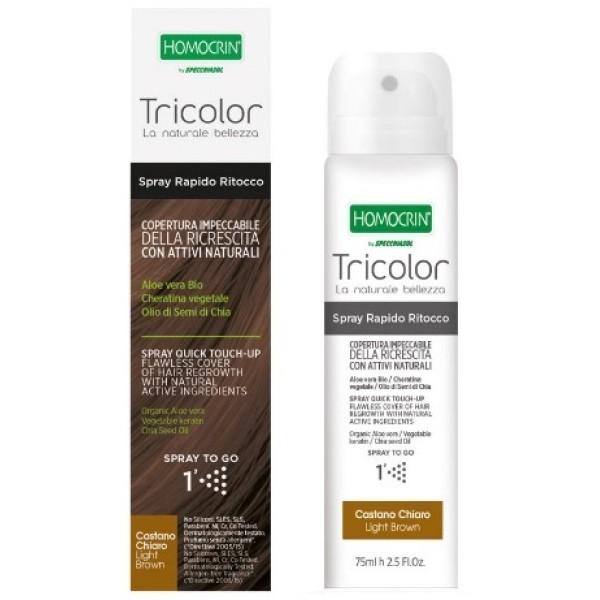 Specchiasol Tricolor Spray Rapido Ritocco Castano Chiaro 75ml