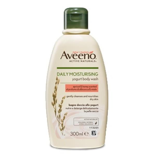 Aveeno Linea Quotidiana Bagno Doccia allo Yogurt al Profumo di Albicocca e Miele 300 ml