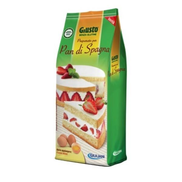 Giusto Senza Glutine Preparato per Pan di  Spagna Gluren Free 480 grammi
