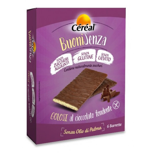 Cereal BuoniSenza Golosi Cioccolato Fondente 6 x 17 grammi