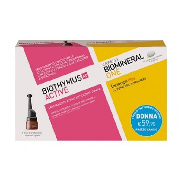 Biothymus AC Active Donna 10 Fiale + Biomineral One Lactocapil Plus 30 compresse