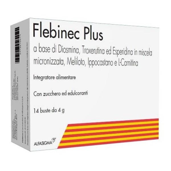 Flebinec Plus Integratore Microcircolo 14 Bustine