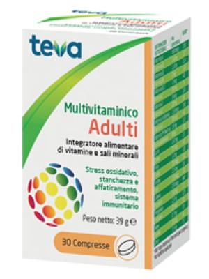 Teva Multivitaminico Adulti 30 Compresse - Integratore Multivitaminico e Minerali