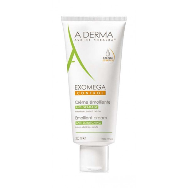 A-Derma Exomega Control Crema Emolliente Sterile Anti-Grattage 200 ml