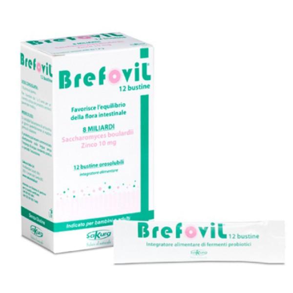 Brefodil 12 Bustine Orosolubili - Integratore di Fermenti Probiotici