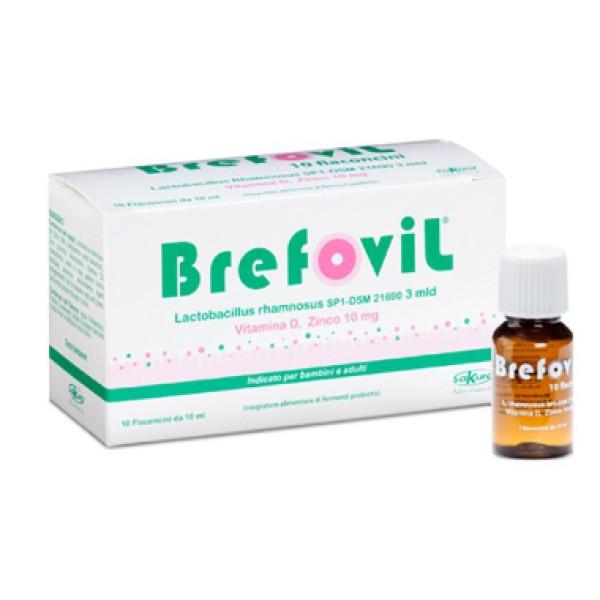 Brefodil 10 Flaconcini - Integratore di Fermenti Probiotici