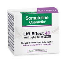 Somatoline Cosmetic Lift Effect 4D Crema Antirughe Filler Notte 50ml