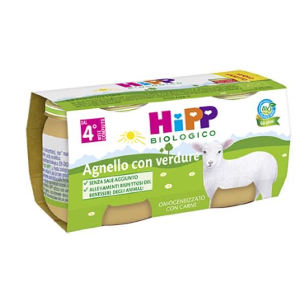 Hipp Bio Omogeneizzato Agnello con Verdure 2 x 80 grammi