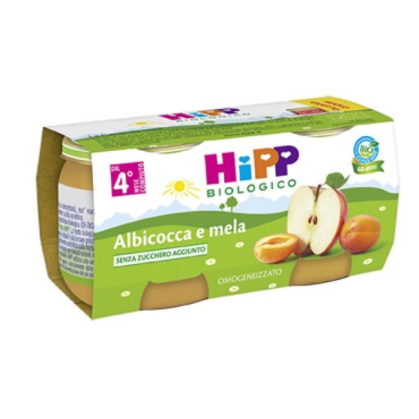 Hipp Bio Omogeneizzato Albicocca e Mela 2 x 80 grammi