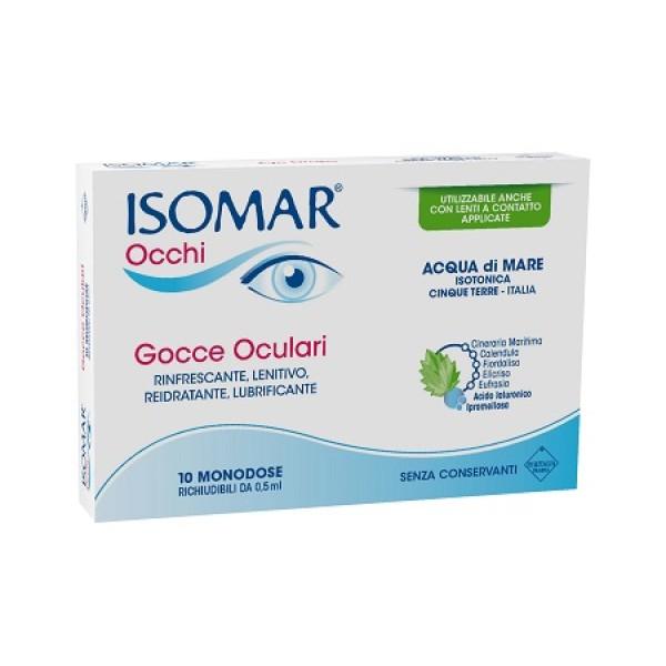 Isomar Occhi Plus Monodose Gocce Oculari Occhi Rossi 10 Flaconcini