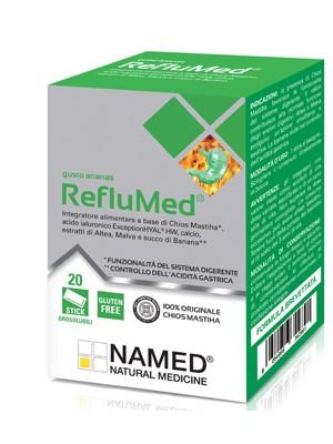 Named RefluMed Ananas Integratore Benessere Stomaco e Intestino 20 Stick