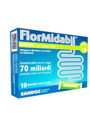 FlorMidabil Gonfiore 10 Bustine Orosolubili - Integratore Fermenti Lattici