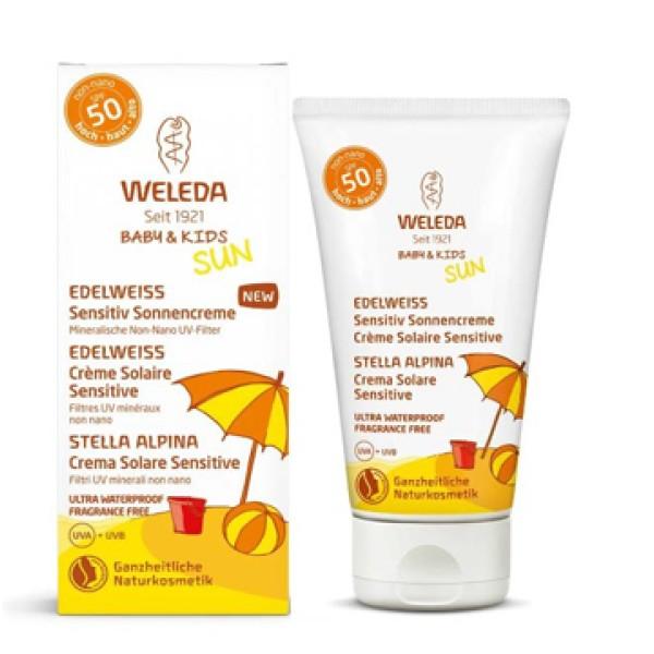 Weleda Sun Crema Solare Sensitive SPF 50+ Protezione Molto Alta 50 ml