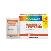 Massigen Magnesio e Potassio Viti Integratore Alimentare 24 + 6 Buste