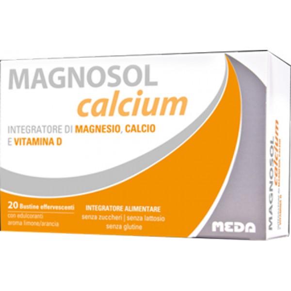 Magnosol Calcium 20 Bustine - Integratore di Multivitaminico