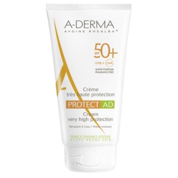 A-Derma Protect AD Crema Solare SPF 50+ Pelle Tendenza Atopica Tubo 150 ml