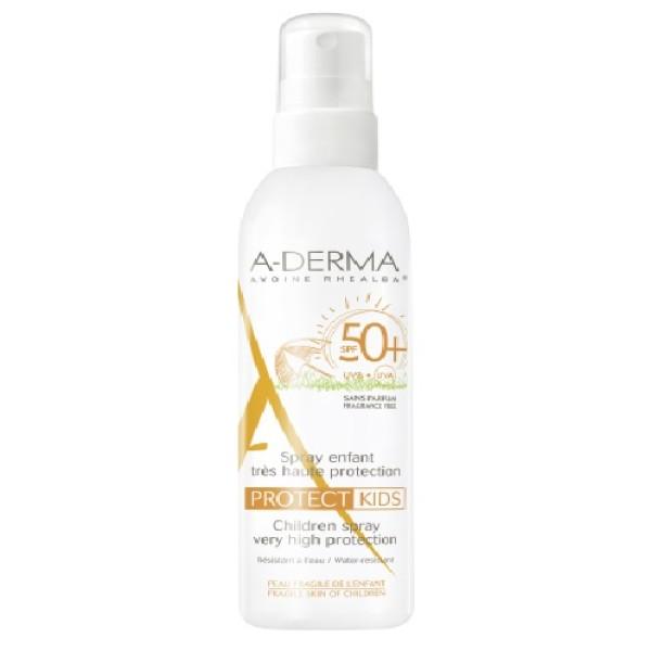 A-Derma Protect Kids Spray Solare Bambino SPF 50+ Protezione Molto Alta 200 ml