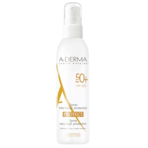 A-Derma Protect Spray Solare Corpo SPF 50+ Protezione Molto Alta 200 ml