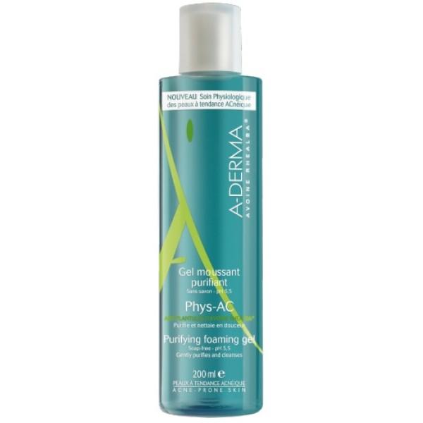 A-Derma Phys-Ac Gel Detergente Purificante Pelle Grassa 200 ml