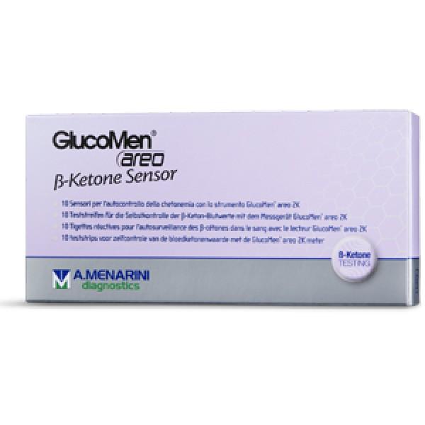 Glucomen Areo B-Ketone Sensor Striscia Reattiva Misurazione Chetonemia 10 pezzi