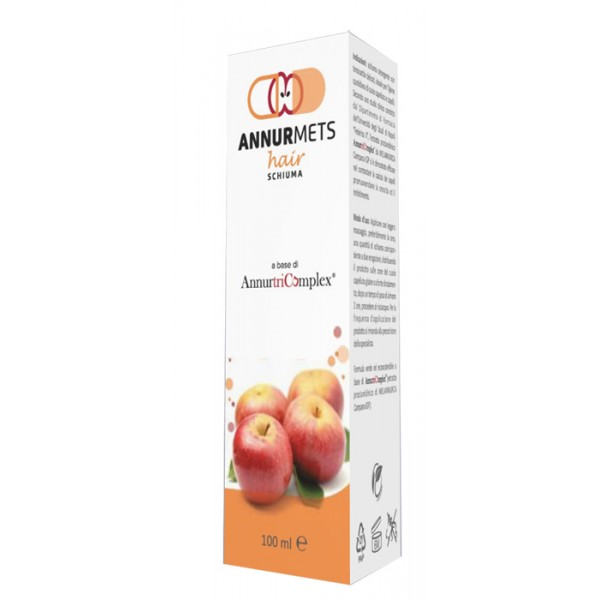AnnurMets Hair Schiuma Detegente per Capelli con Melannurca 100 ml