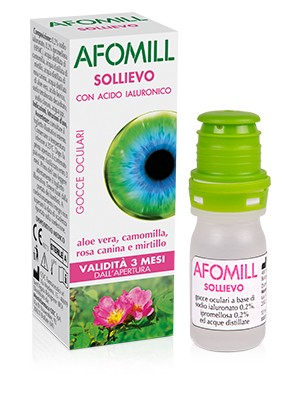 Afomill Sollievo Gocce Oculari Idratanti con Acido Ialuronico 10 ml