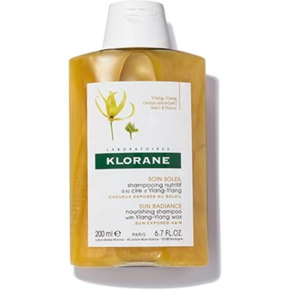 Klorane Ylang-Ylang Shampoo Nutritivo per Capelli al Sole 200 ml